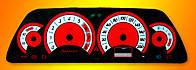 ProSpirit - Накладки на панель приборов для ВАЗ 2110, ВАЗ 2112, «Chevrolet Niva», Black & Red, YB-005