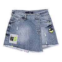 Детские джинсовые юбка -шорты для девочки, на рост 146,152,158,164,170 см, размер 11,12,13,14,15 лет.