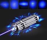 Найпотужніший Пропалюючий лазер LASER B017 Синій. Пропалює картон, пластик, запалює сірники, оригінал!, фото 2