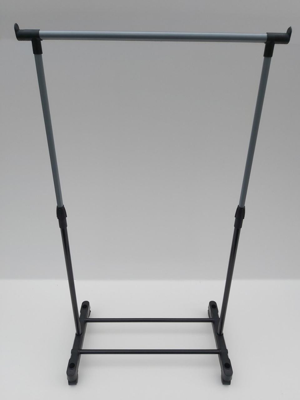 Одинарна телескопічна стійка для одягу ОСТ1 на коліщатках