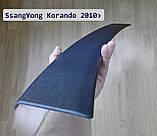 Пластиковая защитная накладка заднего бампера для SsangYong Korando 2010-2017, фото 2