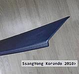 Пластиковая защитная накладка заднего бампера для SsangYong Korando 2010-2017, фото 3