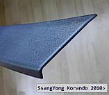 Пластиковая защитная накладка заднего бампера для SsangYong Korando 2010-2017, фото 4