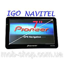 "7"" GPS навигатор Pioneer 718 - 8gb 800mhz 256mb IGO Navitel CityGuide навигатор пионер с картами навител айгоу"