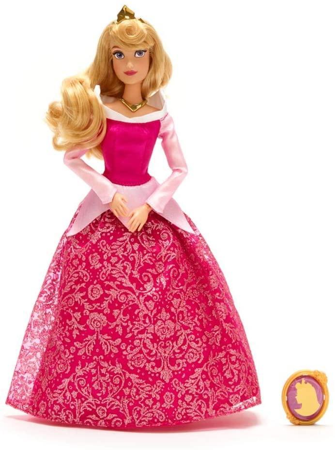 Аврора Классическая кукла c кулоном Принцесса Дисней Disney Aurora Classic Doll with Pendant - Sleeping Beauty