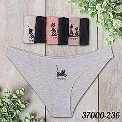 Женские трусы бикини недельки в наборе батал (7 шт/уп) Dominant (Турция) 57000-236