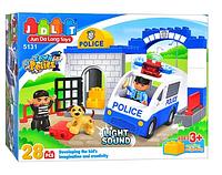 """Конструктор для мальчиков JDLT 5131 """"Полицейский патруль"""", 28 деталей"""