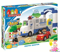 """Конструктор для мальчиков JDLT 5132 """"Полицейский фургон"""", 36 деталей"""