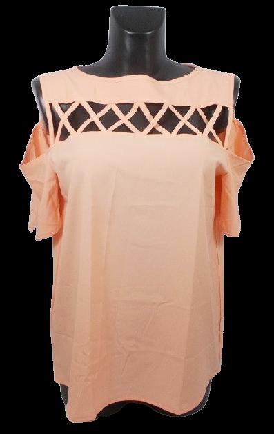 Блуза персикова з відкритими плечима Туреччина розмір М (46-48)