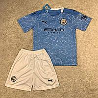 Детская футбольная форма Манчестер Сити домашняя сезон 2020-2021