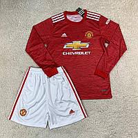 Футбольная форма с длинным рукавом Манчестер Юнайтед домашняя сезон 2020-2021