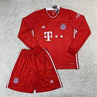 Футбольна форма з довгим рукавом Баварія/Bayern ( Німеччина, Бундесліга ), домашня, сезон 2020-2021, фото 1