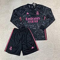 Футбольная форма с длинным рукавом Реал Мадрид резервная сезон 2020-2021