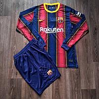 Детская футбольная форма с длинным рукавом Барселона домашняя сезон 2020-2021