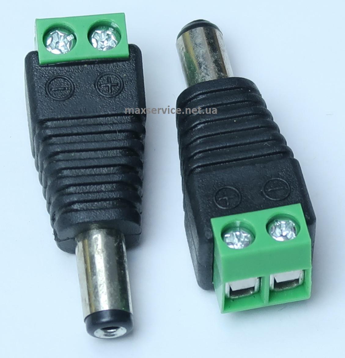 Коннектор для подключения питания 5.5/2.5мм GV-DC папа (3587)