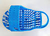 Массажный тапочек Easy Feet щётка-массажёр для ног Голубой, фото 9