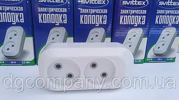 Колодка для подовжувача Svittex на 2 гнізда