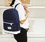 Сумка рюкзак женская для путешествий 3 в 1 Синий Код С-1