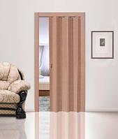 Двері-гармошка глуха. Колір: Вільха №5 2030мм/810мм/6мм