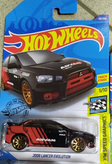 2008 LANCER EVOLUTION машина металл Hot Wheels оригинал Хот Вилс Mattel
