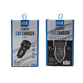 Адаптер CAR (АВТОМОБІЛЬНИЙ) 2 USB HC7 3.1 A з отоброжением напруги