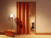Двері-гармошка глуха. Колір: Черешня №7 2030мм/810мм/6мм