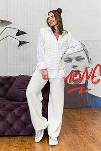 Вязаный женский костюм Молли айвори