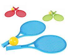 Ракетка Велика 2 ракетки теніс м'яч ТехноК 0380 теніс