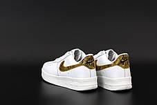 Чоловічі кросівки Nike Air Force Білі, фото 2