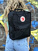 Жіночий рюкзак Kanken, чорний, фото 3