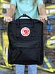 Жіночий рюкзак Kanken, чорний, фото 4