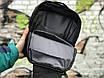 Якісна сумка мессенджер через плече чоловіча чорна, фото 3