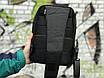Якісна сумка мессенджер через плече чоловіча чорна, фото 4