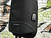Якісна сумка мессенджер через плече чоловіча чорна, фото 5