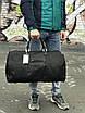 Чоловіча чорна сумка з натуральної шкіри David Jones, фото 3