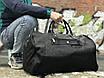 Чоловіча чорна сумка з натуральної шкіри David Jones, фото 4