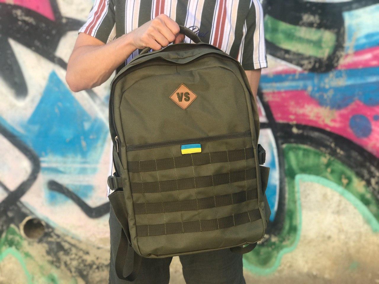 Зелений чоловічий рюкзак для спорту та школи