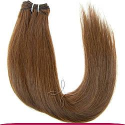 Натуральные Славянские Волосы на Трессе 45-50 см 100 грамм, Шоколад №04