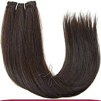 Натуральные славянские волосы на трессе 55-60 см 100 грамм, Шоколад №02