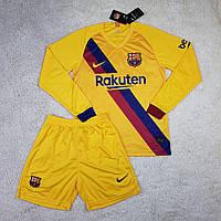 Футбольная форма с длинным рукавом Барселона выездная сезон 2019-2020