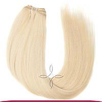 Натуральные славянские волосы на трессе 55-60 см 100 грамм, Блонд №60