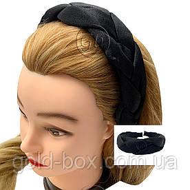 Обідок-чалма для волосся кіска чорна