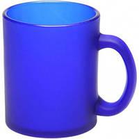 Кружка Лавиния Фрост стеклянная 340 мл, синяя, от 10 шт