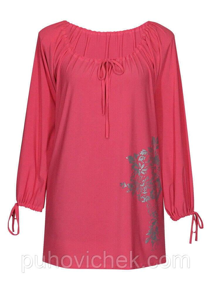 Женские блузки и туники больших размеров
