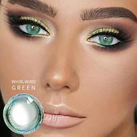 Цветные контактные линзы Зеленый + мультиколор