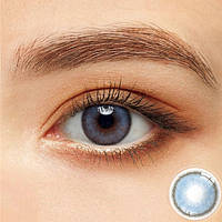 Цветные контактные линзы Коричневый + Синий