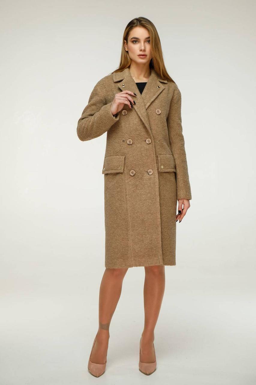 Гарне вовняне демісезонне пальто