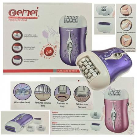 Эпилятор для лица GM 3055 Эпилятор женский Эпилятор электрический Эпилятор для домашнего использования, фото 2