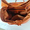 """Рюкзак женский """"Неаполь"""" натуральная кожа, оранжевый флотар, фото 5"""