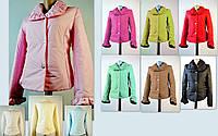 Стильная розовая курточка